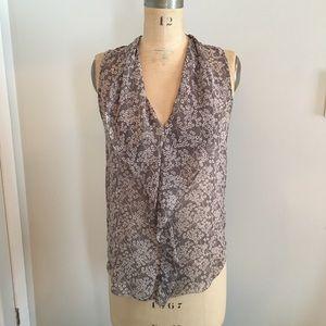 2/$26 🦋 T.Babaton silk floral sleeveless blouse